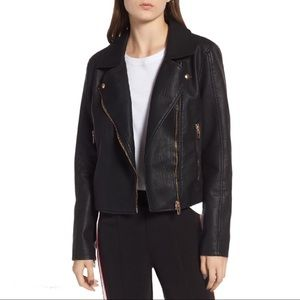 BLANK NYC Meant To Be Moto Jacket Coat Biker Large